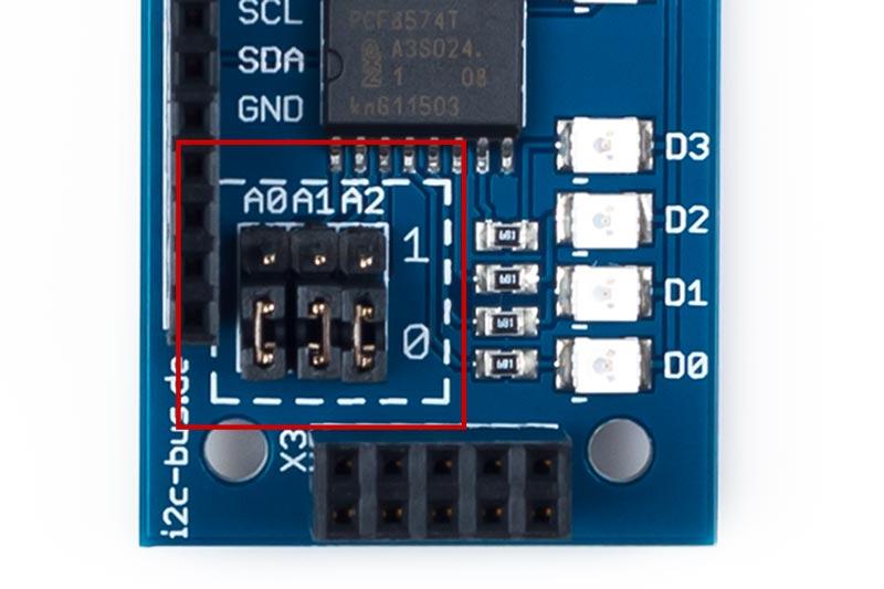 I2C-002 PCA8574 Portexpander Modul