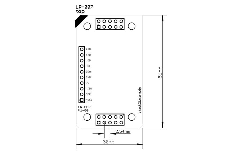 stack2Learn Rasterplatine LR07