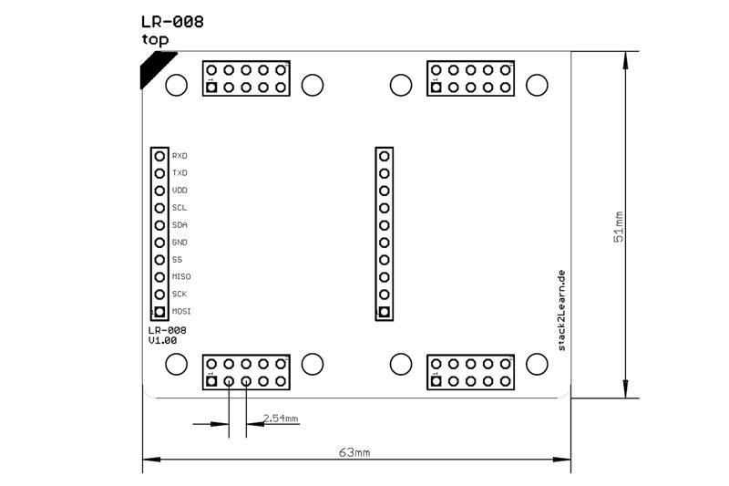 Rasterplatine LR08