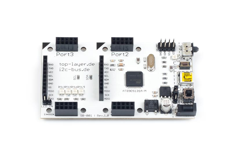stack2Learn 8051 Mikrocontrollerboard mit AT89C5131A-M – SB-001